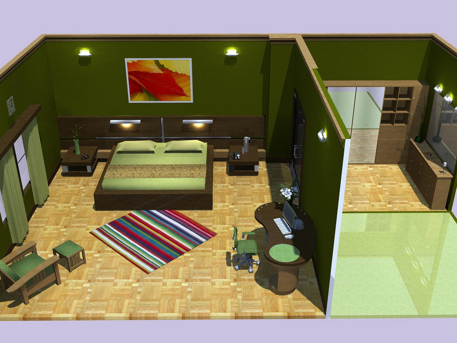 the earthy bedroom a bedroom done up in earthy colours it has a walk