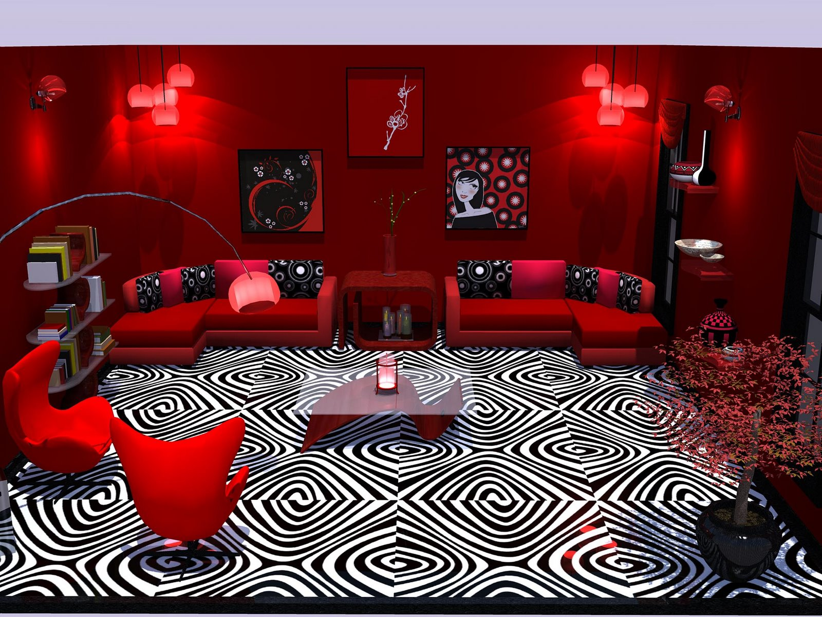 Nice Bedroom Colors The Red Lounge Flawed Cracked But Rare