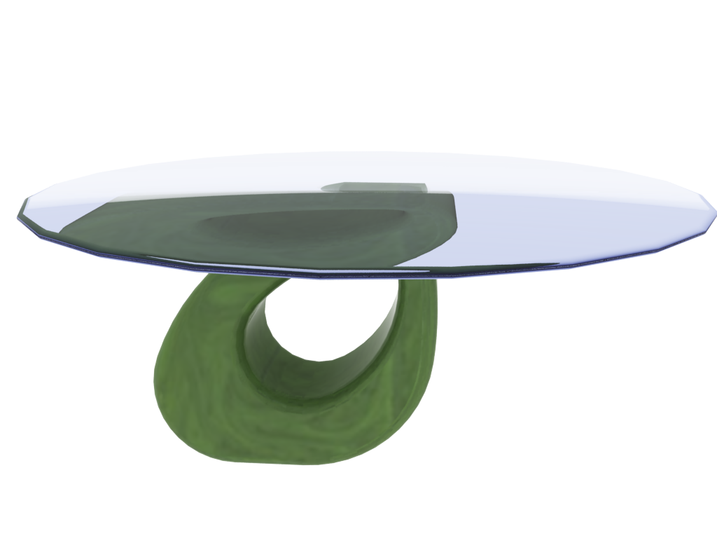 Jade And Glass Table: Simple But Striking Form.