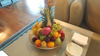 Welcome tray of fruits